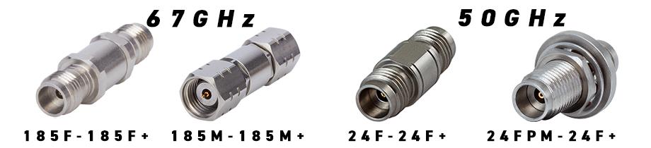 同軸アダプタ 67GHz 50GHz 1.85mm 2.4mm